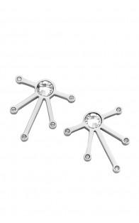 Melano Naušnice Stars Silver