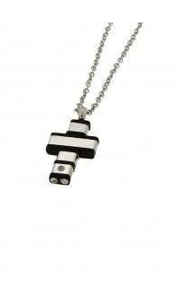 69 Jewels Ogrlica Silver/Black