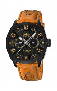 Lotus muški sat Black/Orange
