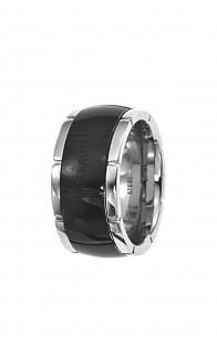 Cerruti prsten Steel/Black